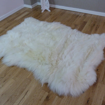 British Sheepskin Rug Ivory UKN3S
