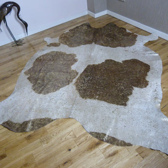 Metallic Cowhide Rug Gold