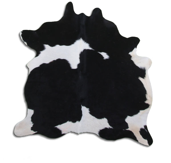 Cowhide Rug Black and White Small