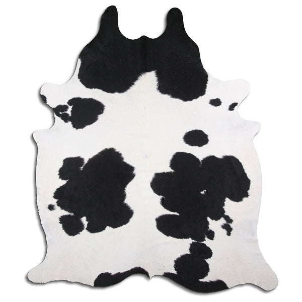 Cowhide Rug Black and White C457