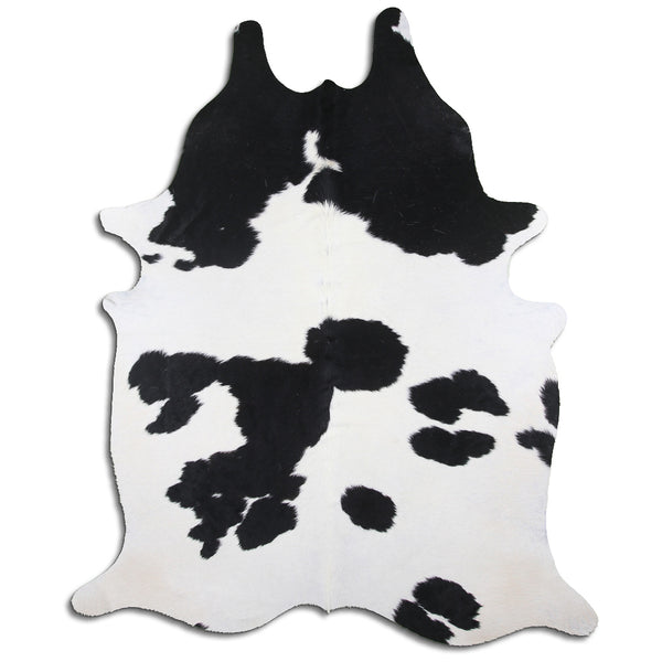 Cowhide Rug Black and White C458