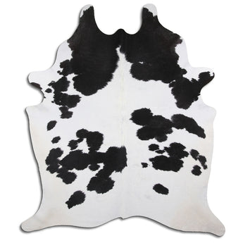 Cowhide Rug Black and White C471