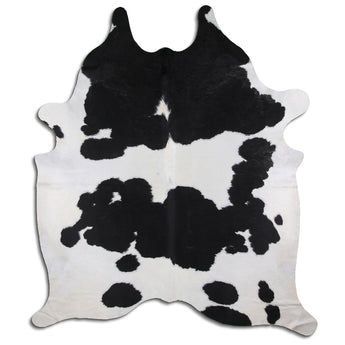 Cowhide Rug Black and White C495