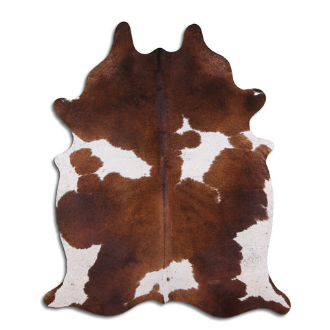 Cowhide Rug White and Brown C503