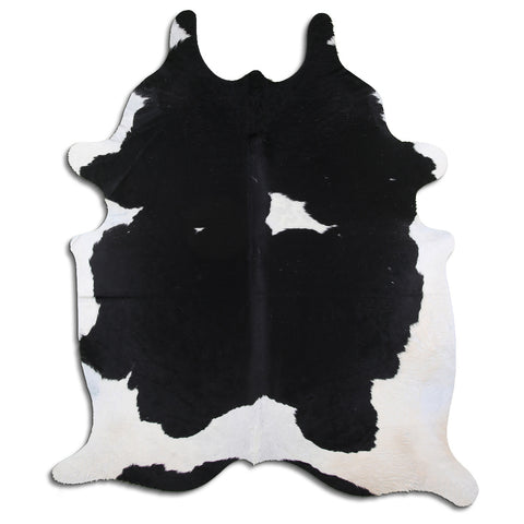 Cowhide Rug Black and White C541