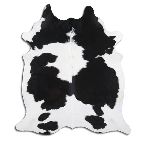 Cowhide Rug Black and White C542
