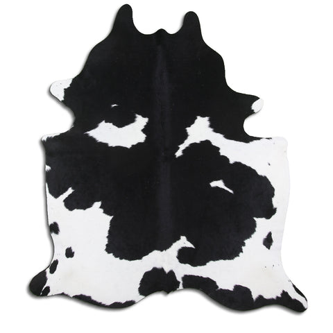 Cowhide Rug Black and White C546
