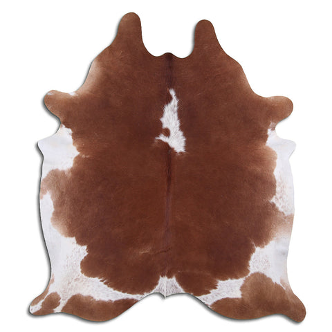 Cowhide Rug White and Brown C634