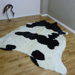 Cowhide Rug Black and White C878