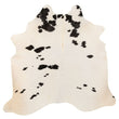 Cowhide Rug Black and White C312