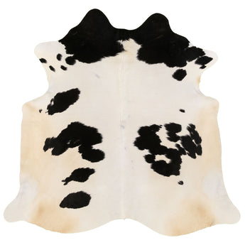 Cowhide Rug Black and White C313