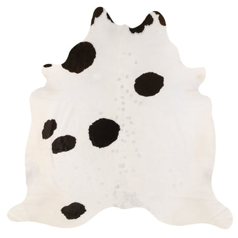 Cowhide Rug Black and White C263