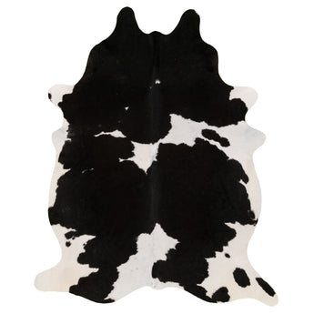 Cowhide Rug black and White C332