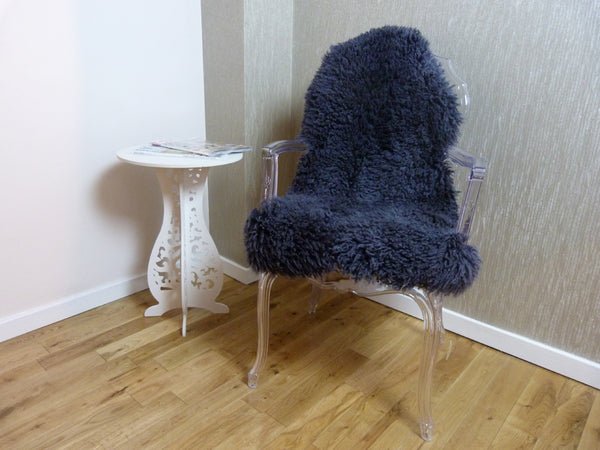 Curly Sheepskin Rug Dark Grey