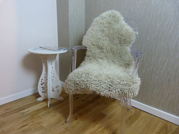 Curly Sheepskin Rug Oyster