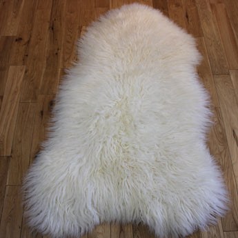 XL Curly Leicester Ivory Sheepskin Rug CL132