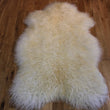 XL Curly Leicester Ivory Sheepskin Rug CL134