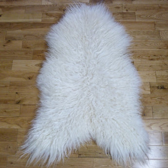 Curly Icelandic Sheepskin Rug Ivory - Medium