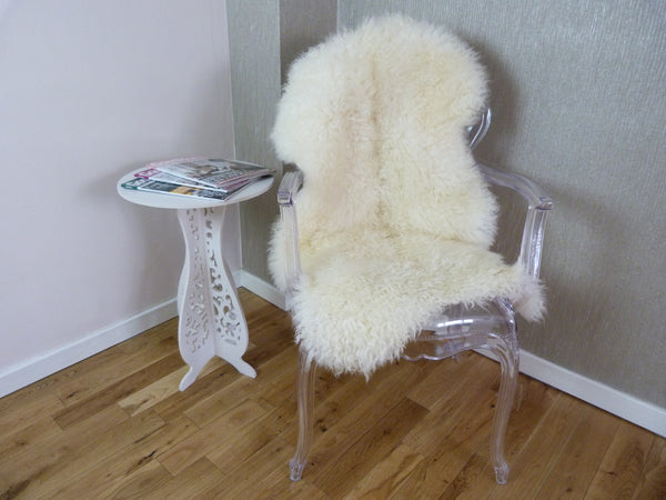 Curly Leicester Ivory Sheepskin Rug CL115