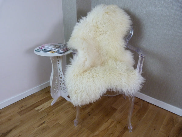 Curly Leicester Ivory Sheepskin Rug CL116