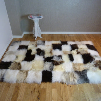 Mixed UK Sheepskin Designer Rug SM09