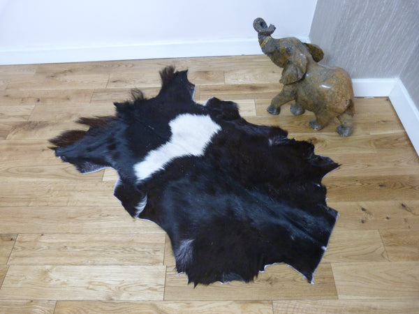 Black and White Goatskin Rug