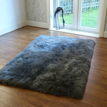 Rectangular Sheepskin Rug GREY 120x180cm