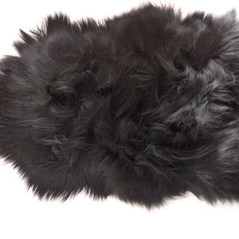 Icelandic Sheepskin Rug Black