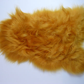 Icelandic Sheepskin Rug Golden Yellow
