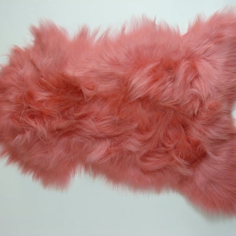 Icelandic Sheepskin Rug Light Coral Pink
