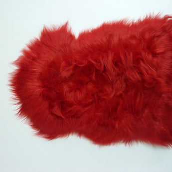 Icelandic Sheepskin Rug Red