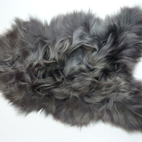 Icelandic Sheepskin Rug Steel Grey