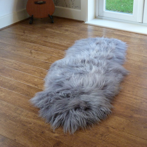 Icelandic Sheepskin Rug Grey Double