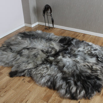 Natural Grey Icelandic Sheepskin 4 Skin Grey ING4S45