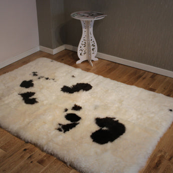 Icelandic Sheepskin Designer Patchwork Rug Shorn IP-1