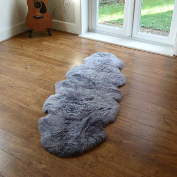 Icelandic Sheepskin Rug Shorn Double Grey