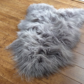 Icelandic Sheepskin Rug Grey Large
