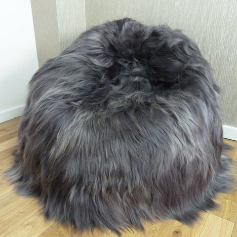 Icelandic Sheepskin Bean Bag Grey