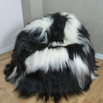 Icelandic Sheepskin Bean Bag Spotted