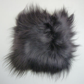 Icelandic Sheepskin Chair Pad Graphite Grey