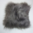 Icelandic Sheepskin Cushion Grey