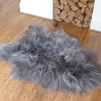 Grey Icelandic Sheepskin Rug Medium