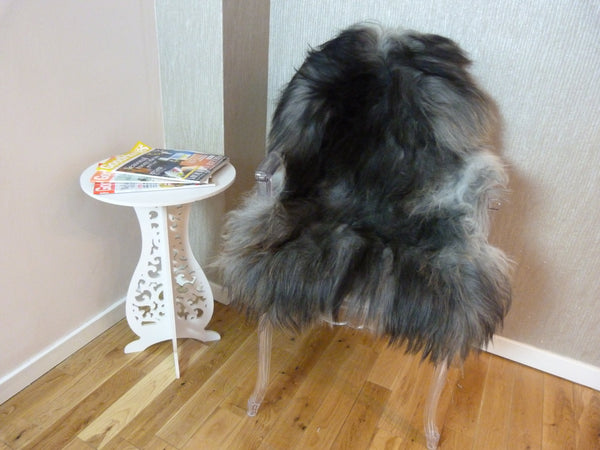 Natural Grey Icelandic Sheepskin Rug ING293