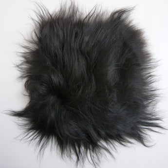 Black Sheepskin Chair Pad