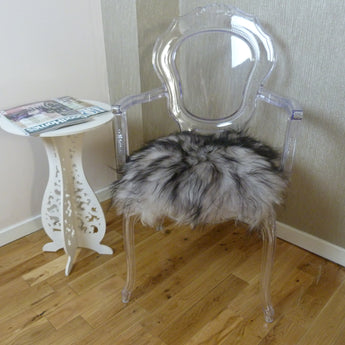 Grey Sheepskin Chair Pad