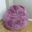 Icelandic-Shorn Sheepskin Bean Bag Dusty Rose