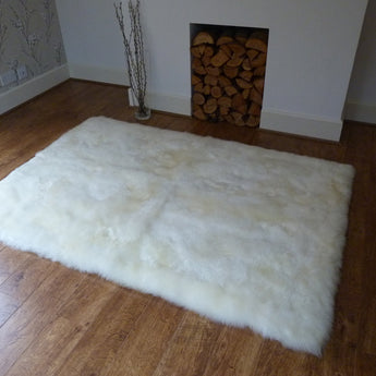 Rectangular Sheepskin Rug Ivory 120x180cm