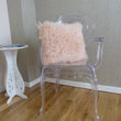 Mongolian Sheepskin Cushion Blush Pink