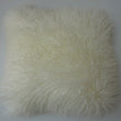 Mongolian Sheepskin Cushion Ivory