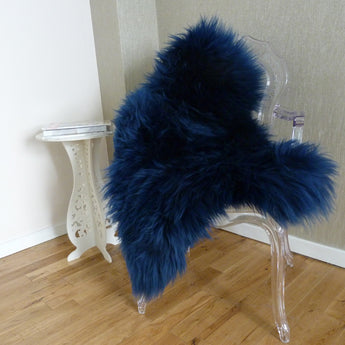 Sheepskin Rug UK - Navy Blue